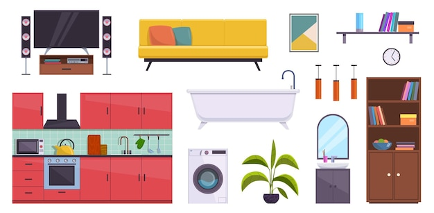 フラット家具