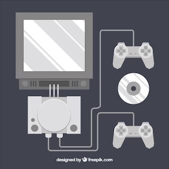 Flat gaming set