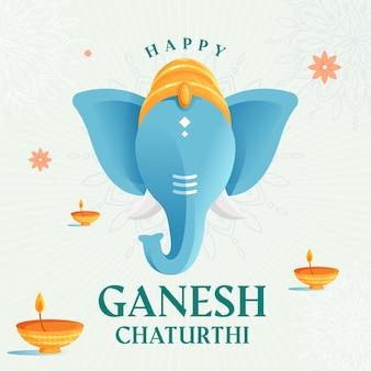 Flat ganesh chaturthi background