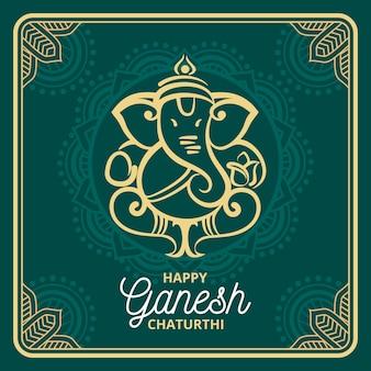 Concetto di chatanthi piatto ganesh