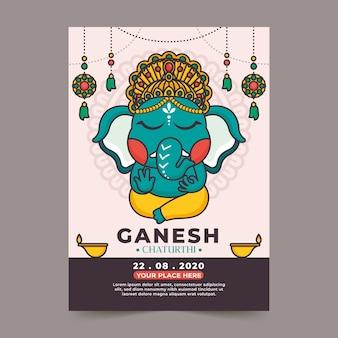 Poster di chatanthi piatto ganesh