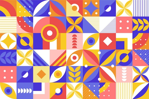 Flat geometric background pattern