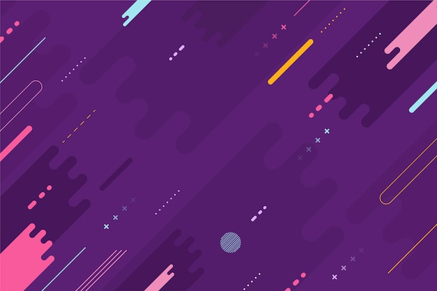 Flat geometric background Free Vector