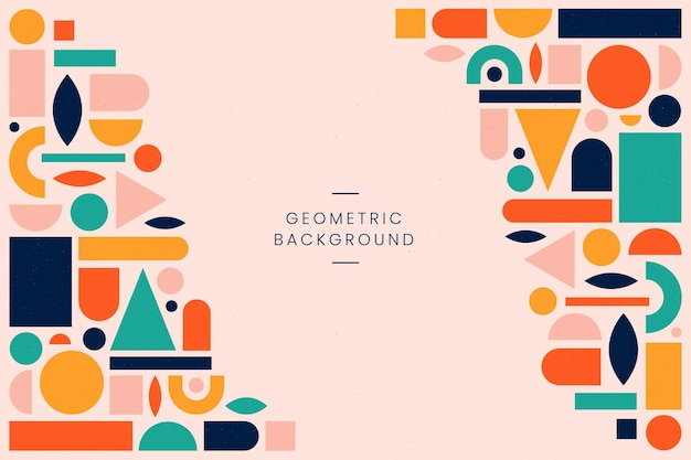 Flat geometric background
