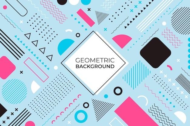 平らな幾何学的な背景