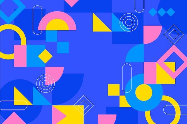 Flat geometric background Free Vector