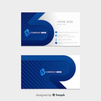 Flat geometric business card template