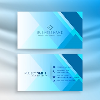 Flat geometric business card