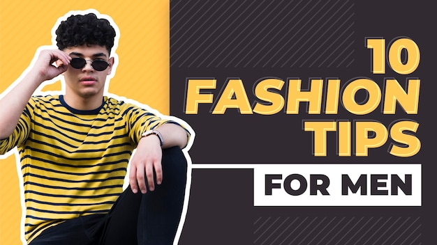 Flat geometric fashion youtube thumbnail
