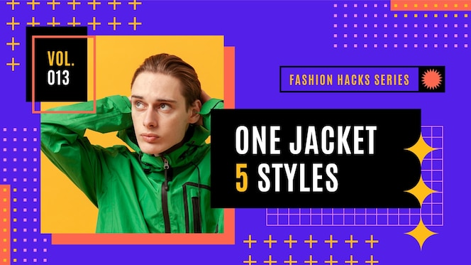 Flat geometric fashion youtube thumbnail