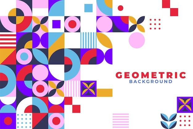 Плоский геометрический мозаичный фон