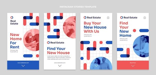 Flat geometric real estate instagram stories