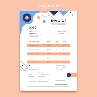 Flat geometric real estate invoice