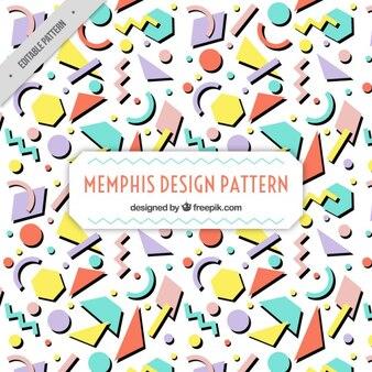 フラットな幾何学的形状メンフィスパターン