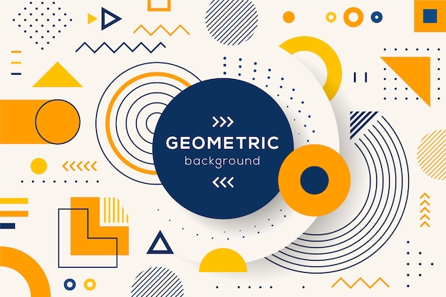 Flat geometric shapes wallpaper