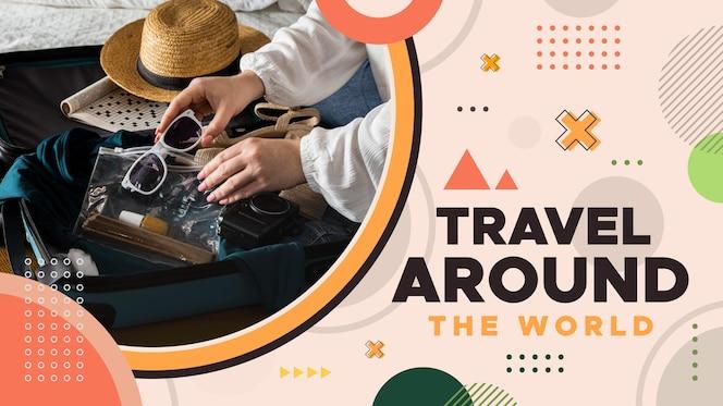 Flat geometric travel youtube thumbnail