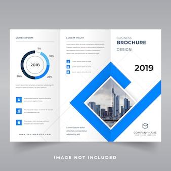 Flat geometric tri-fold brochure template