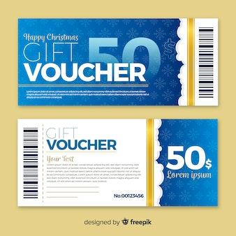 Flat gift voucher