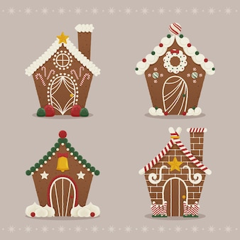Flat gingerbread house pack