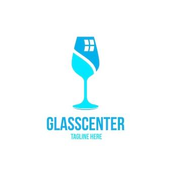 Шаблон логотипа плоского стекла