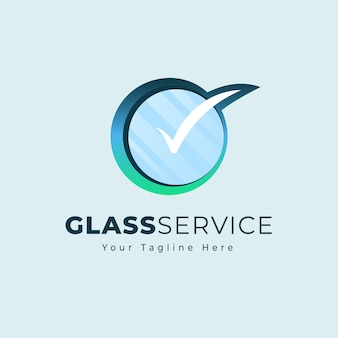 板ガラスのロゴテンプレート
