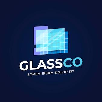 Modello logo in vetro piano flat