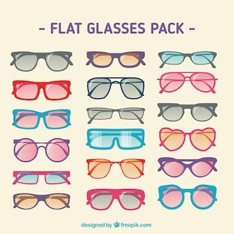 Плоские очки пакет