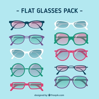 Flat glasses pack