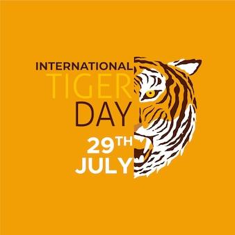 Flat global tiger day illustration
