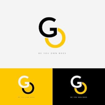 Modello di logo flat go