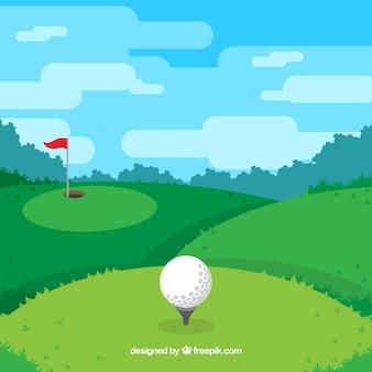 플랫 골프 배경