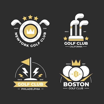 플랫 골프 로고 컬렉션