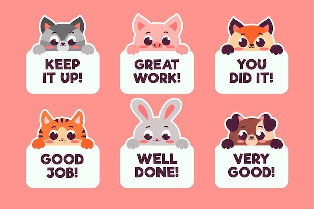 Плоские наклейки с хорошей работой и отличной работой