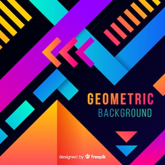 Flat gradient geometric shape background