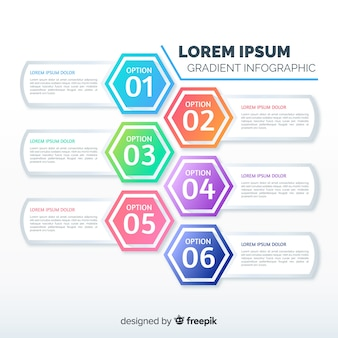 Flat gradient infographic template