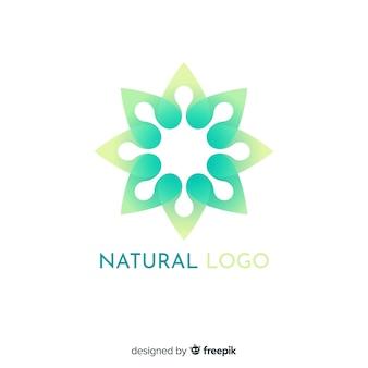Flat gradient nature concept logotype