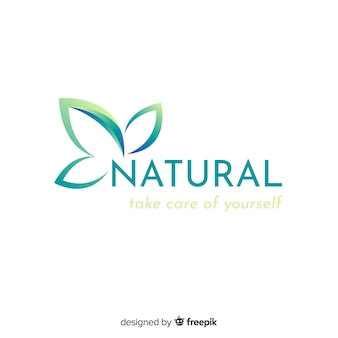 Flat gradient nature concept logotype