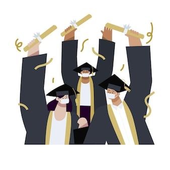Illustrazione di laurea piatta