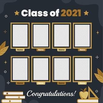 Modello di annuario di laurea piatto