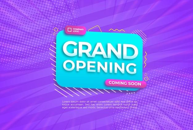 Flat grand opening background design