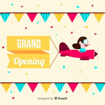 Flat grand opening concept