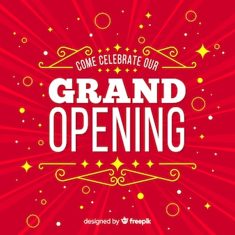 Flat grand opening decorative background
