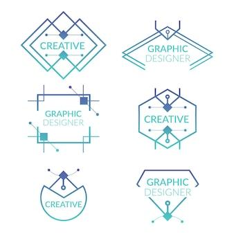 평면 그래픽 디자이너 로고 컬렉션