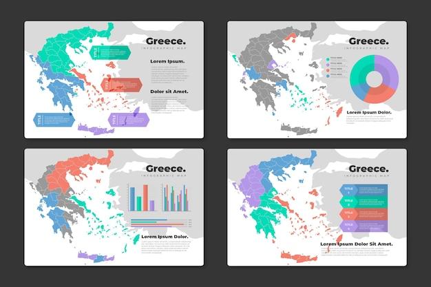 플랫 그리스지도 infographic