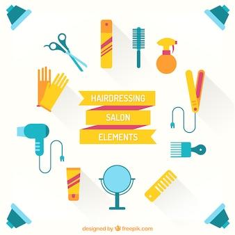 Flat hairdressing salon elements