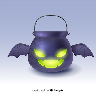 Flat halloween black bat bag