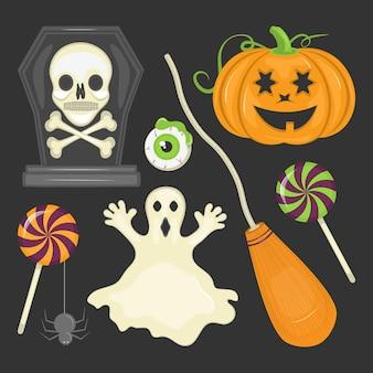 Плоский элемент коллекции хэллоуин