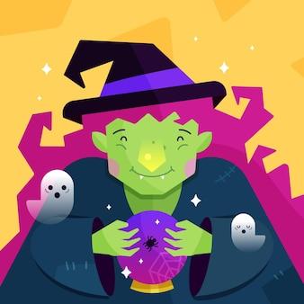 Плоская иллюстрация хэллоуина