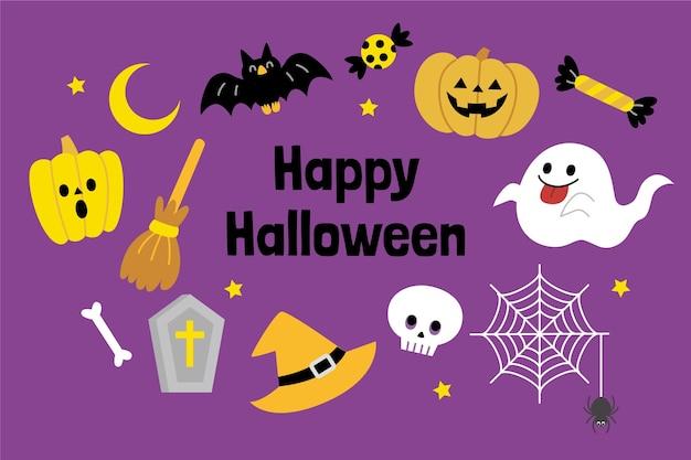 Illustrazione piatta di halloween