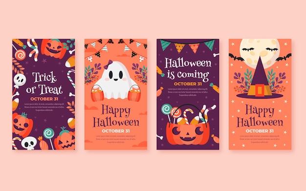 Raccolta di storie piatte su instagram di halloween